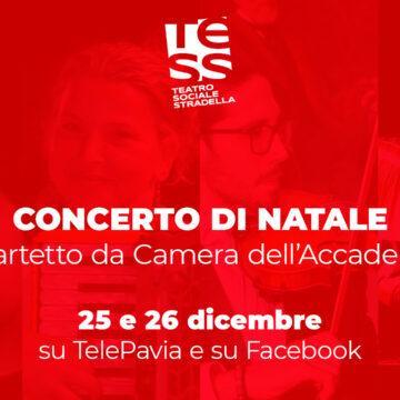 Il TeSS riapre virtualmente con il Concerto di Natale 2020 in diretta su TelePavia e su Facebook